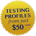 Testing profiles from $50