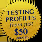 profile testing badge