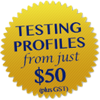 profile testing badge